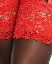 Negra con banda roja