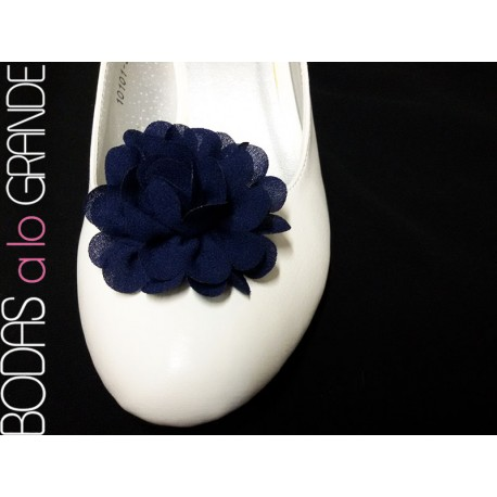 Adornos para zapatos color AZUL MARINO