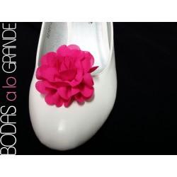 Adornos para zapatos color FUCSIA