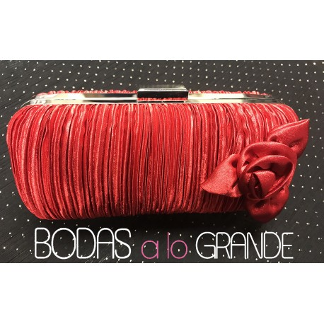 Bolso de fiesta color rojo HDL02