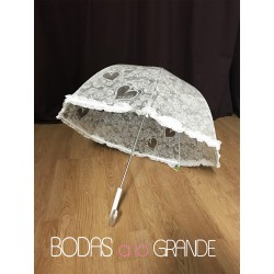 Paraguas encaje cupula